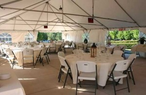 Ask about our covered tent!